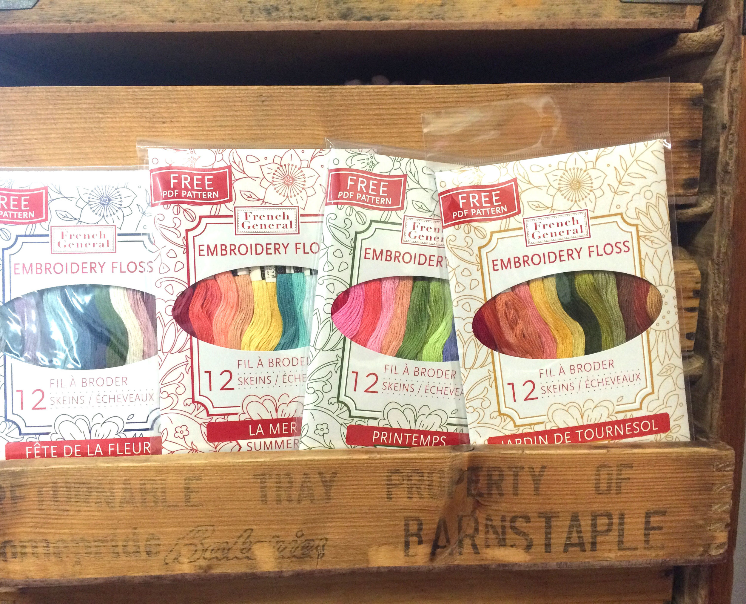 New French General embroidery floss.