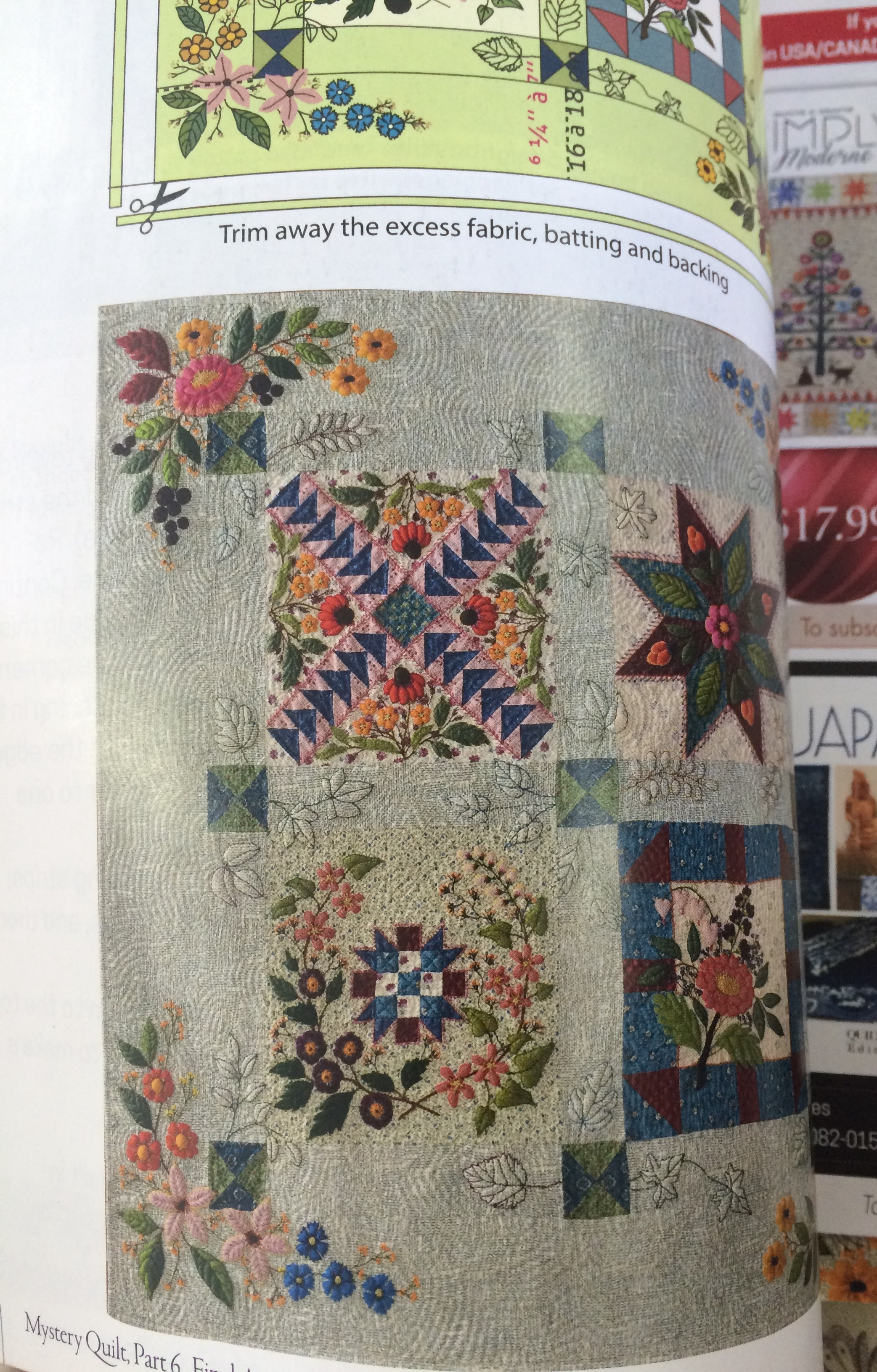 A picture of Quitmania's mystery quilt, gorgeous!