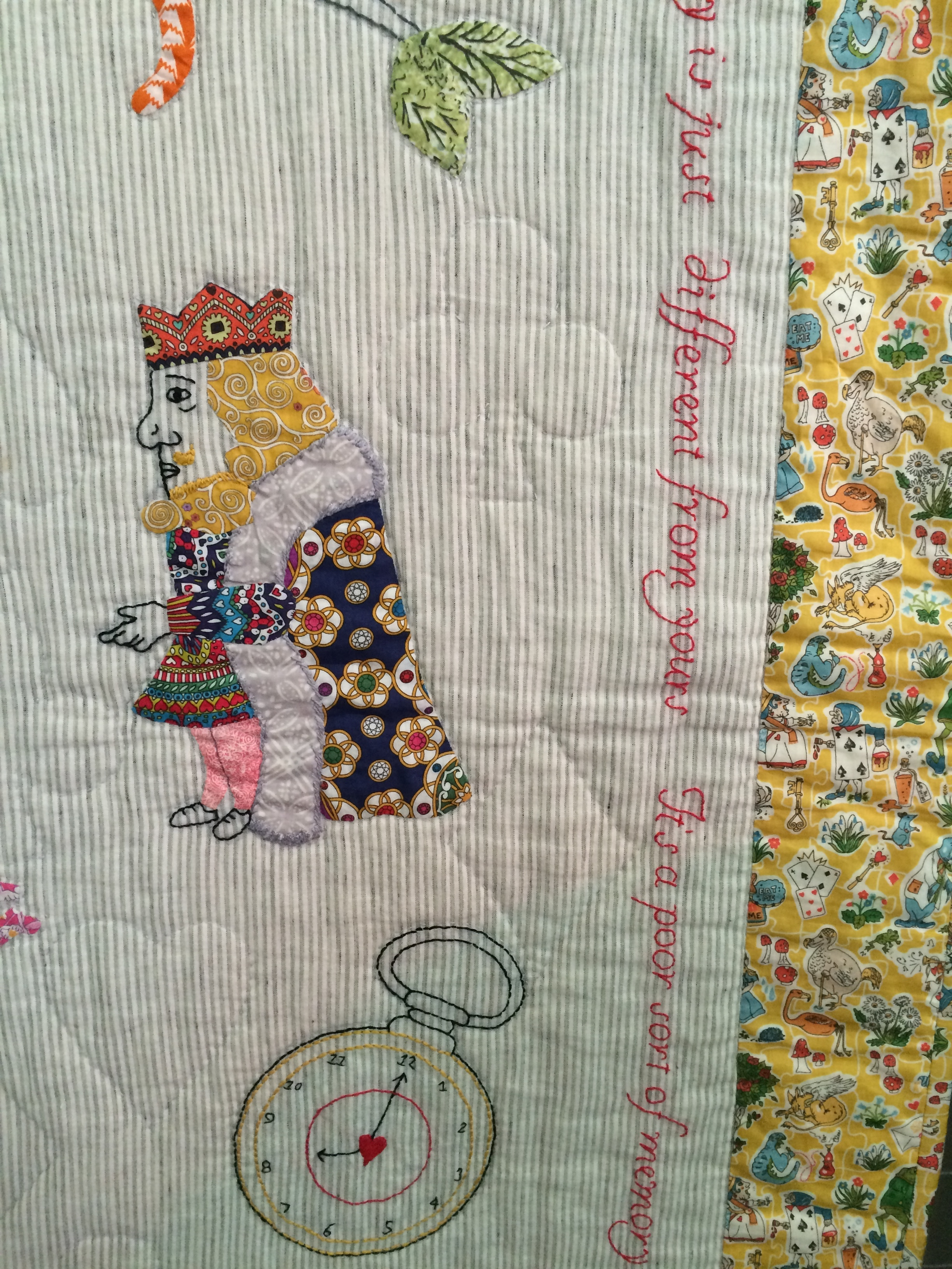 Judy's Liberty Alice quilt close up.