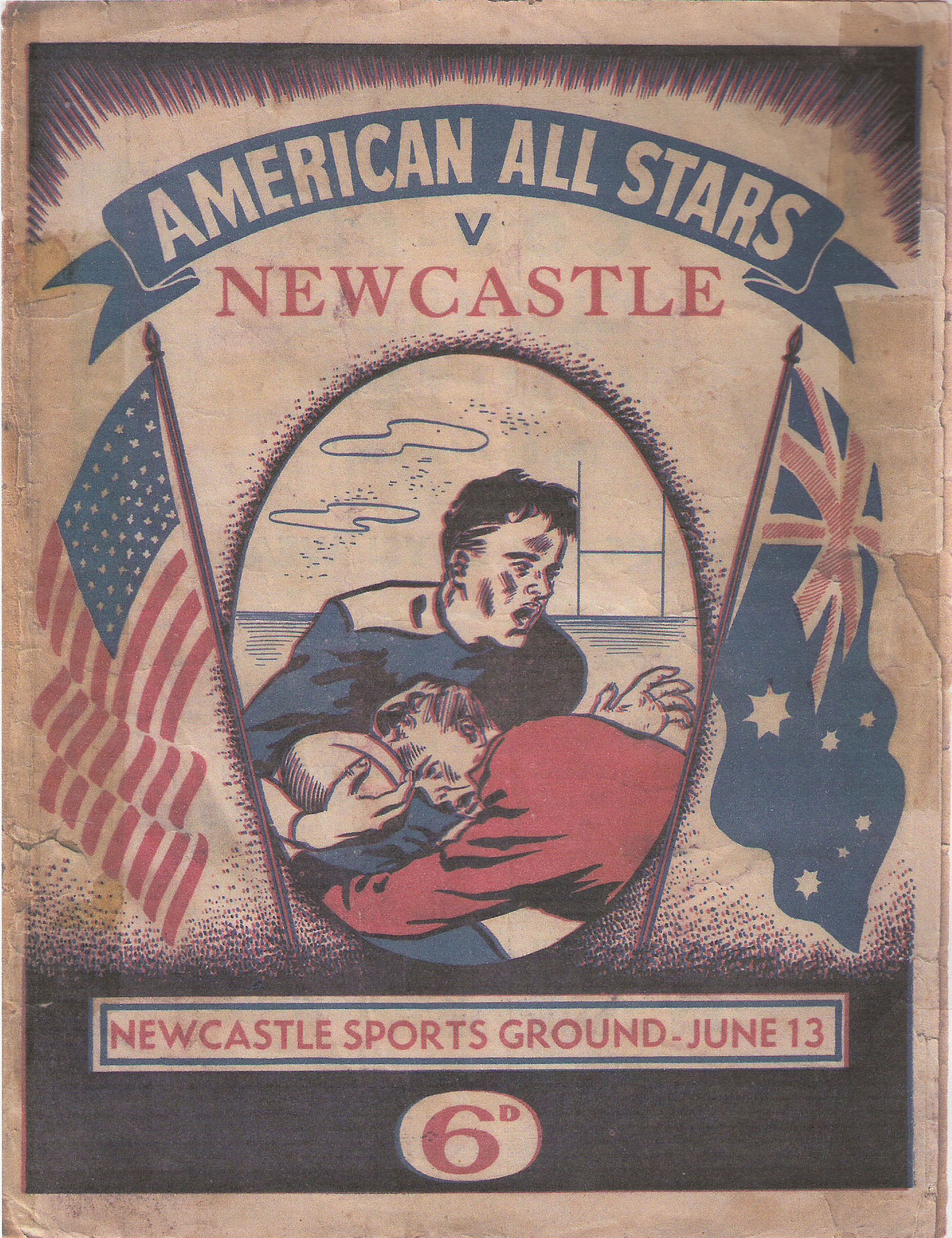 Match-day programme for Newcastle v American All Stars (1953)