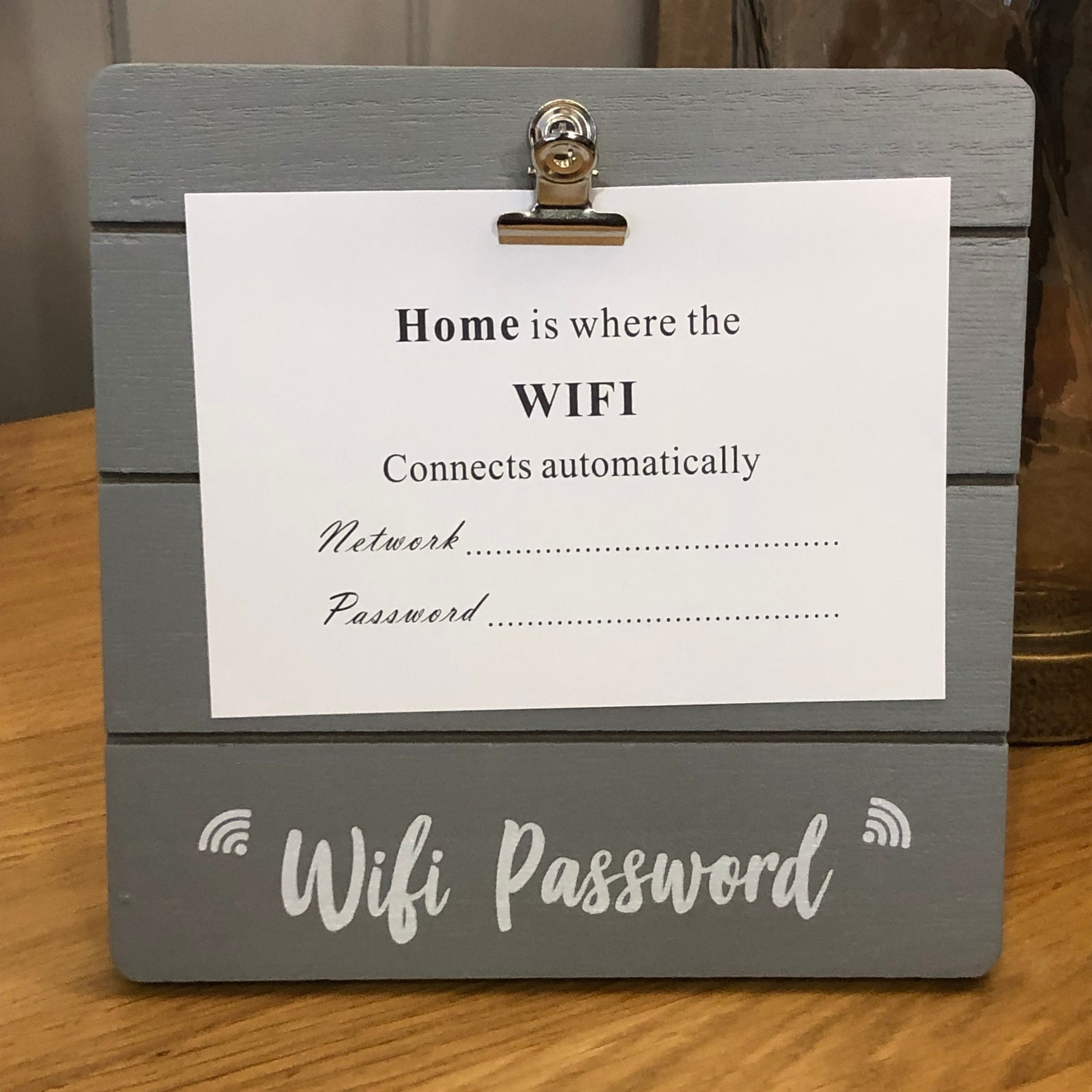 Wifi Password SIgn GZD001