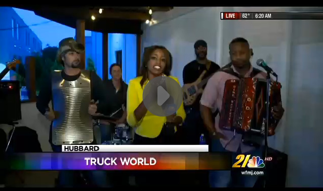 See Dwayne Dopsie & the Zydeco Hellraisers live on WFMJ August 13th with Jasmine Monroe!!