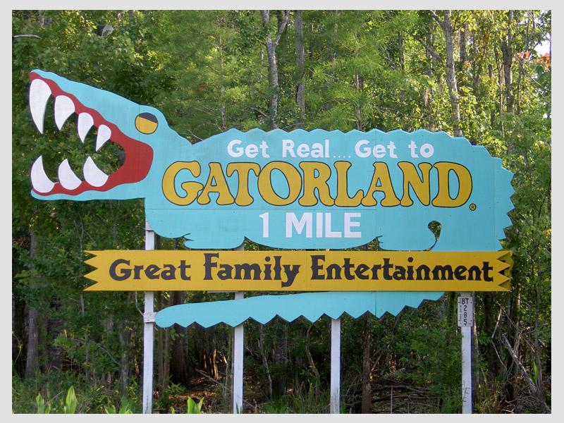 Vintage Gatorland Road-Side Sign