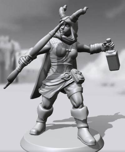 My own D&D character! Hero Forge sadly doesn't have non-human races like werewolves or (in my case) dragonborn yet, but they've said they hope to expand possibilities in the future.