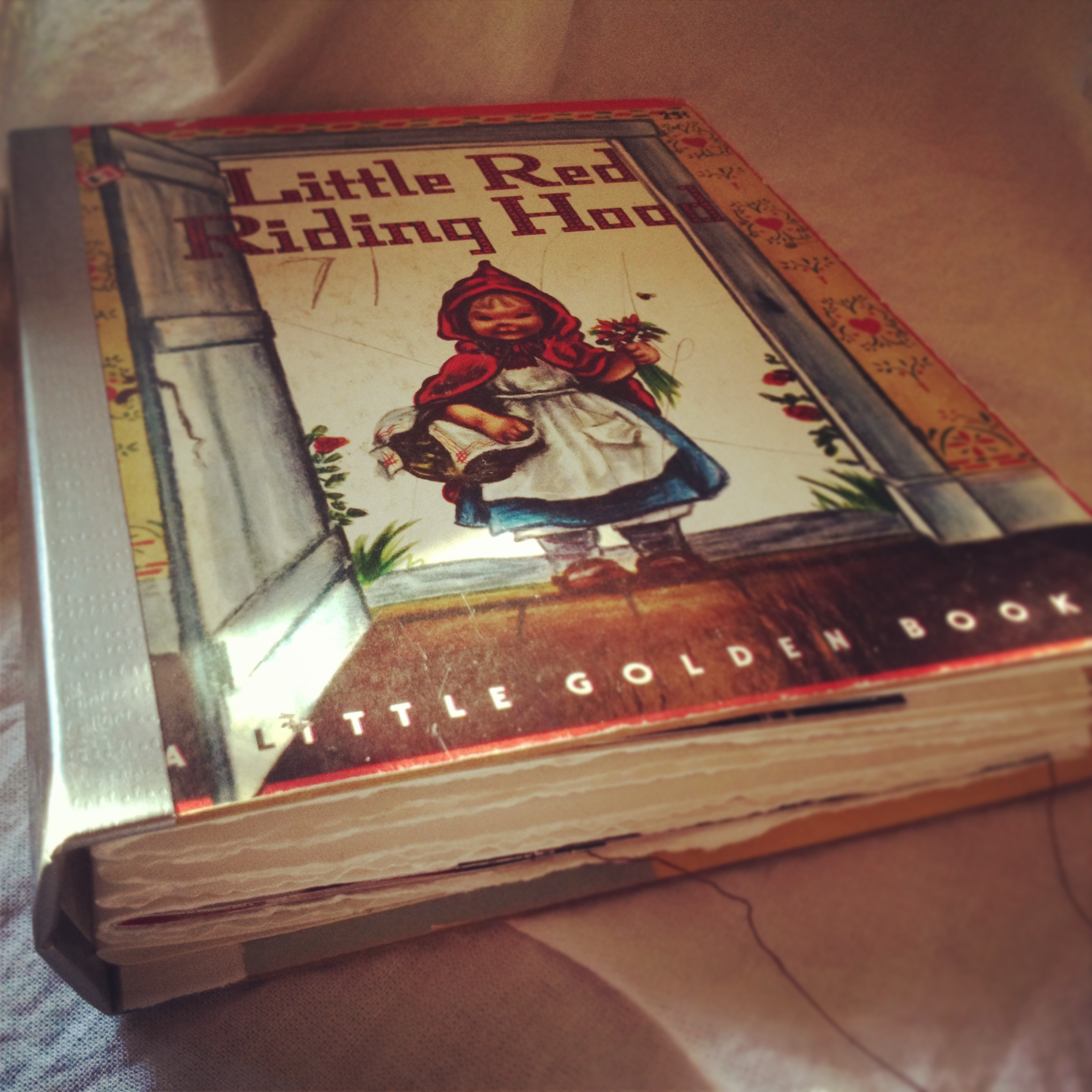 All of these pages are held in a rebound Golden Book, originally purchased for twenty-five cents.