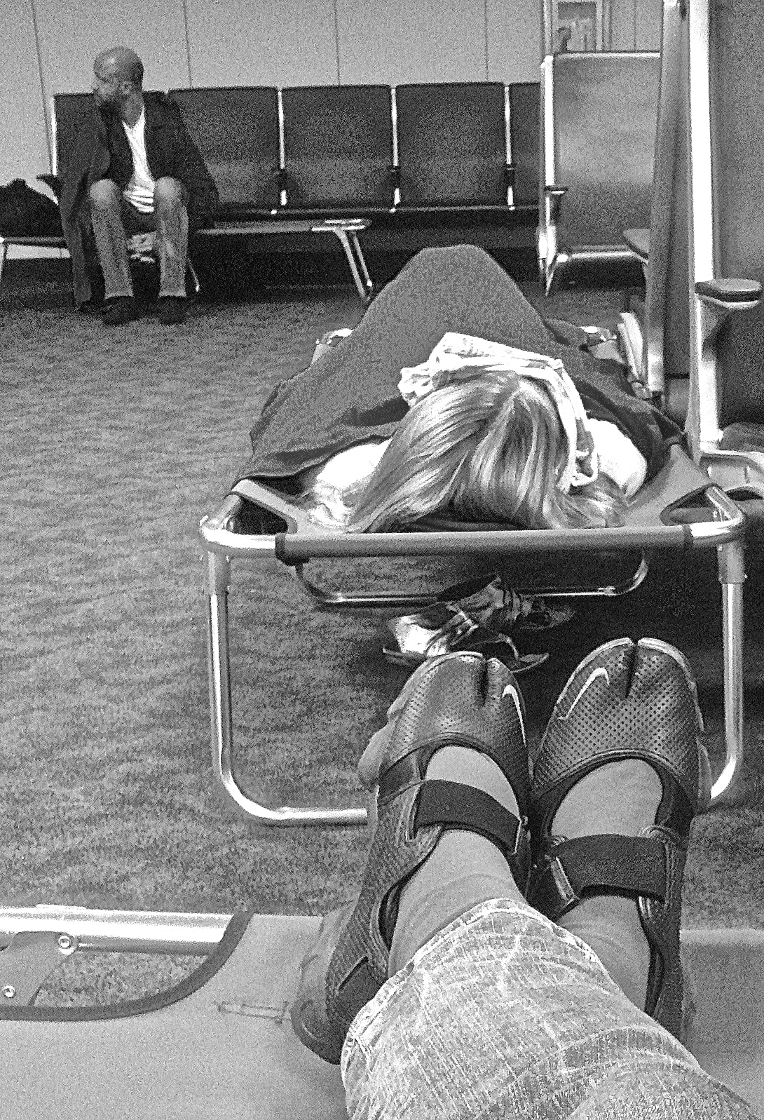 Overnight in the Dallas/Fort Worth Airport.