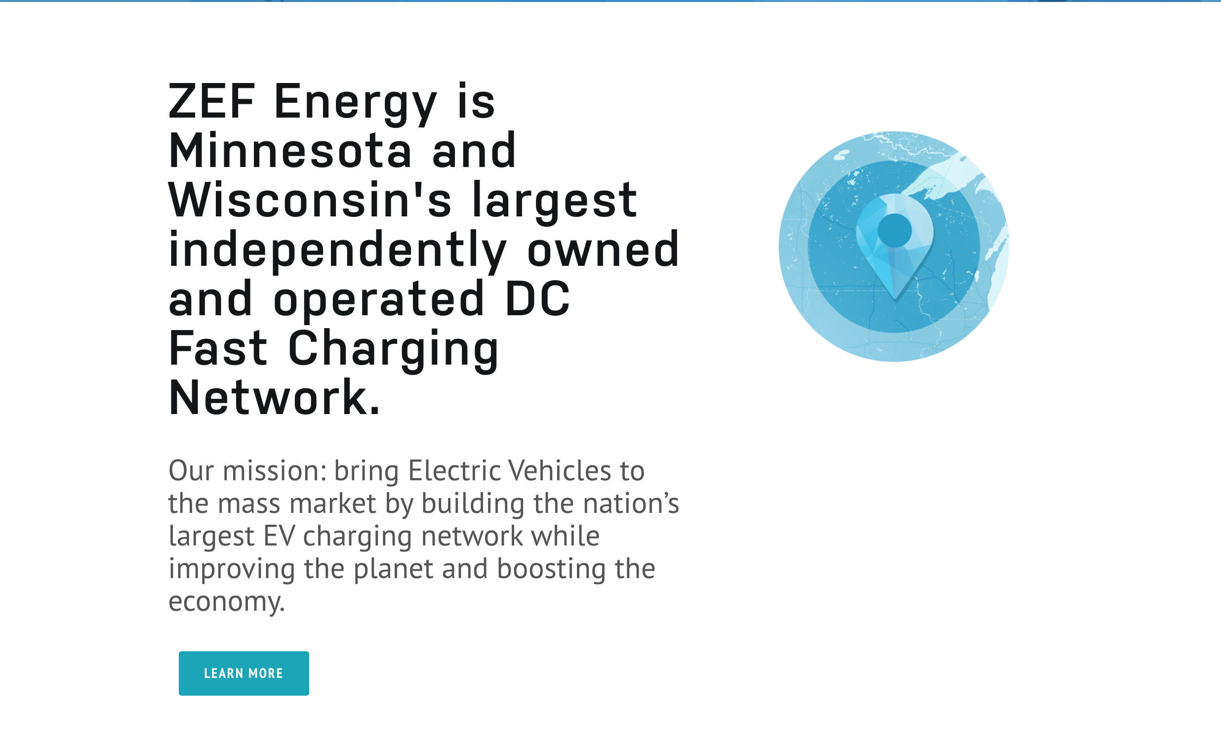 Homepage copy for ZEF Energy's new website.