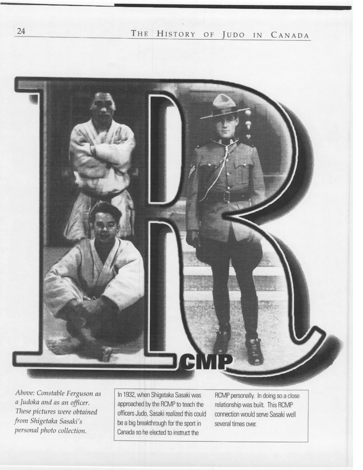 Early Years with Judo and the RCMP