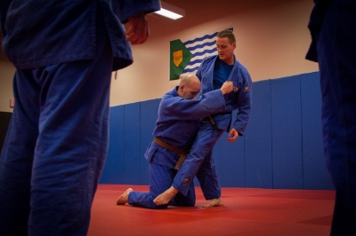 Toby, explaining judo drills   (photo credit:  jane  )