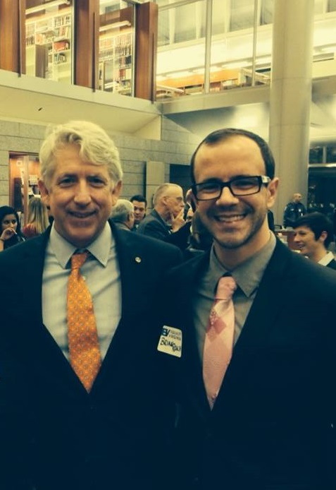 Virginia Attorney General Mark Herring and NOVA Pride President Brian Reach at Equality Virginia's 2014 Day of Action