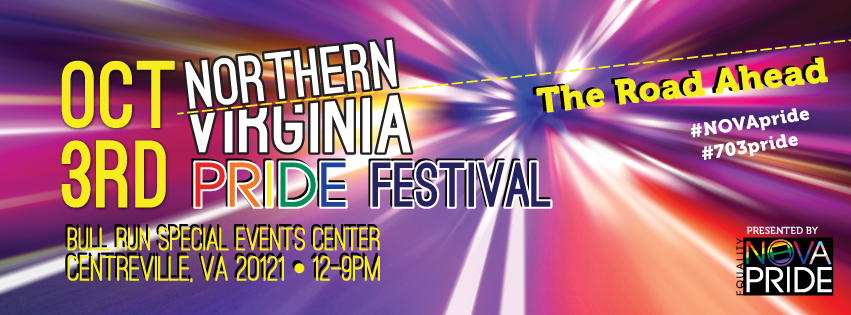 2015 Northern Virginia Pride Festival will take place on Saturday, October 3rd, 2015 at Bull Run Special Events Center, Centreville, VA from 12pm-9pm!