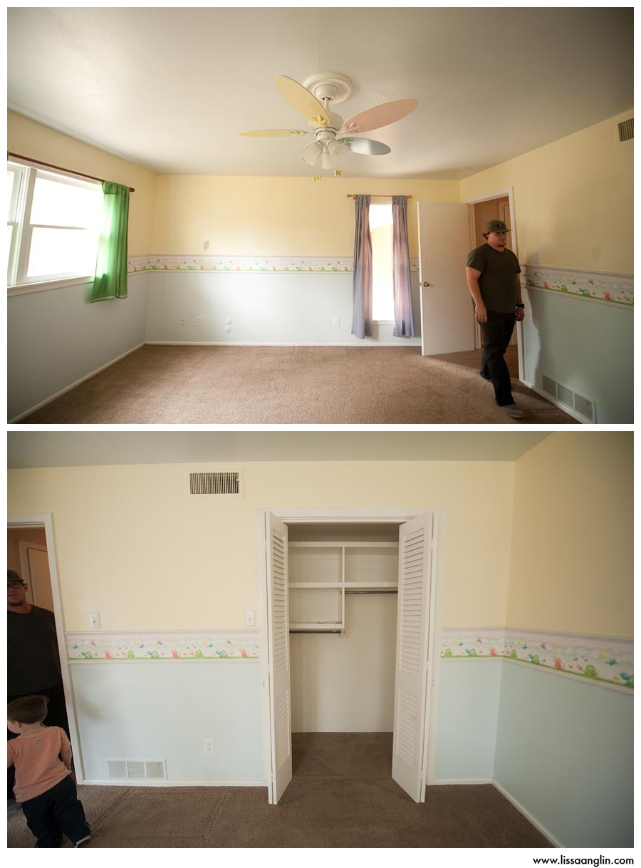 Knox's bedroom. The froggy border is now gone, but sadly the pastels are still there. :/ I've got a ton of ideas for his bedroom, I just need to plan a weekend to do it all!