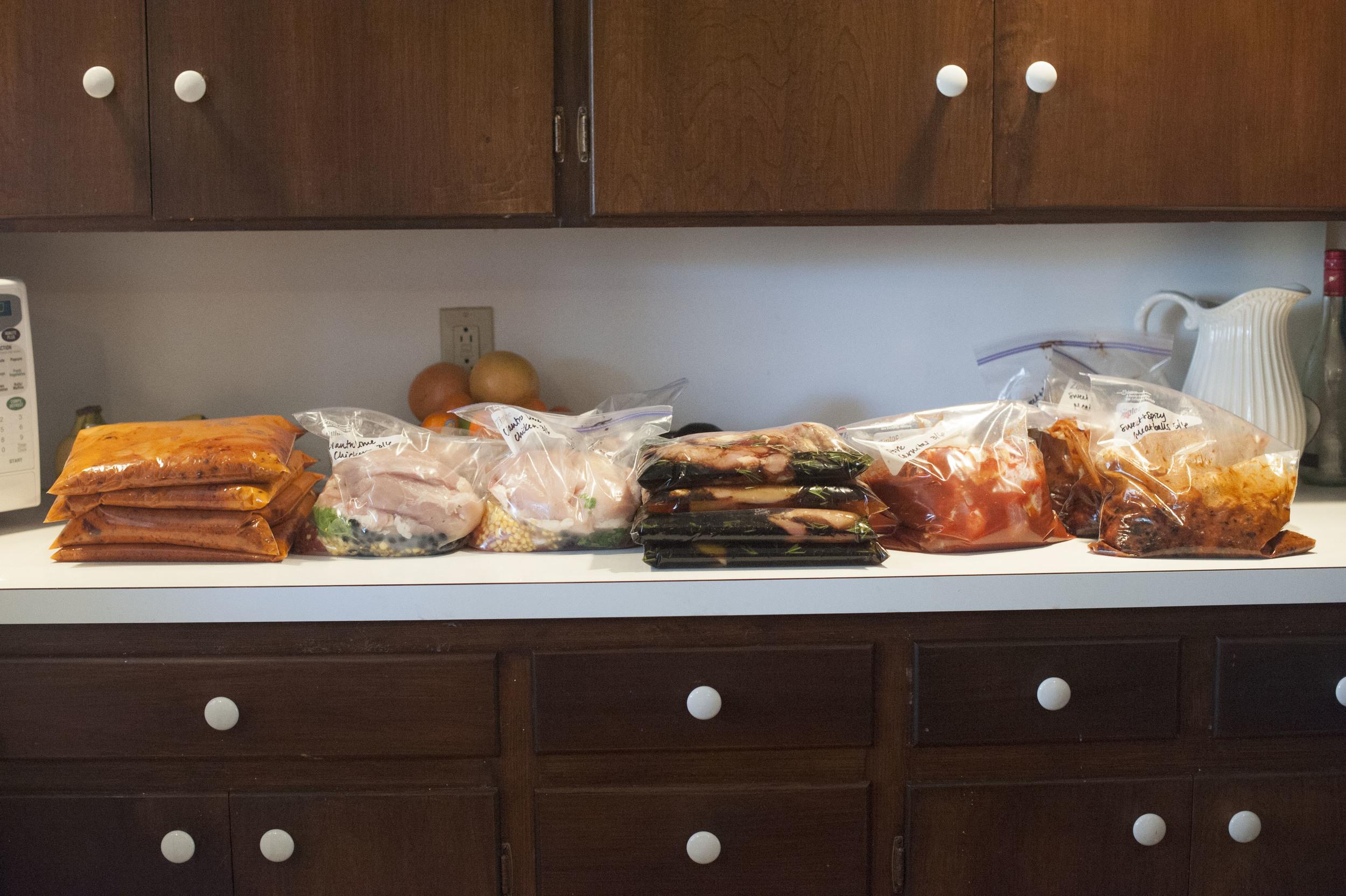 Finished freezer meals!