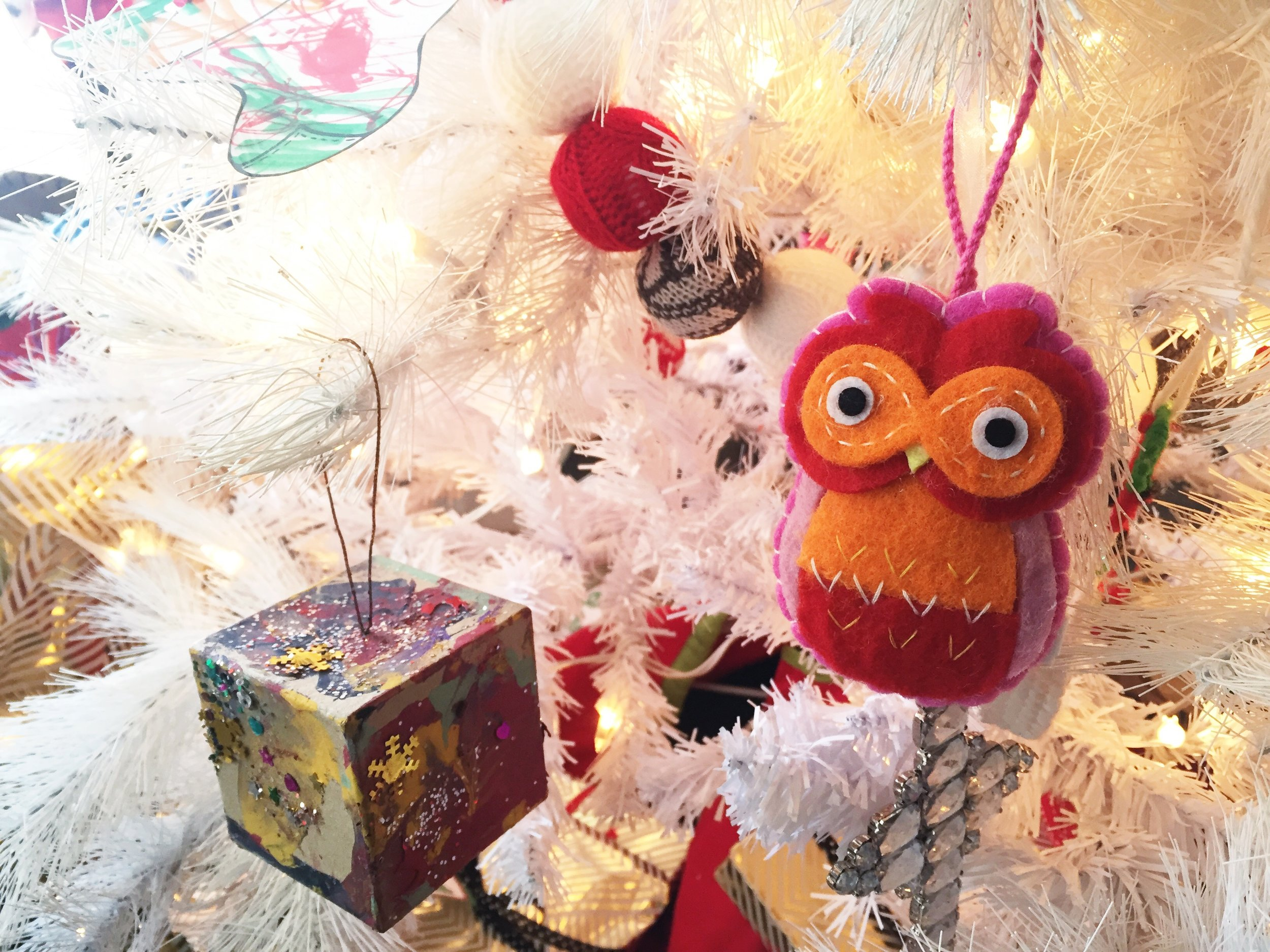 """This owl is our china baby's first ornament on our tree. I pick one out for the kids each year. no- we don't have a name for her yet, so we just call her """"our china baby"""" for now! :)"""