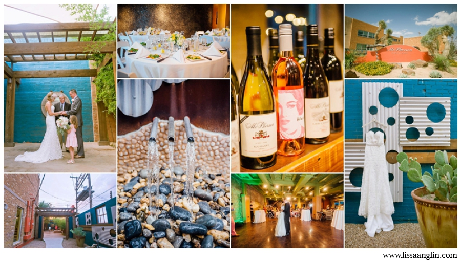 MCPHERSON CELLARS IS LOCATED IN DOWNTOWN LUBBOCK AND HAS A COLORFUL, COOL VIBE WITH AN OUTDOOR COURTYARD AND INDOOR INDUSTRIAL SPACE. OF COURSE, YOU CAN SERVE THEIR DELICIOUS WINES AT THE RECEPTION.
