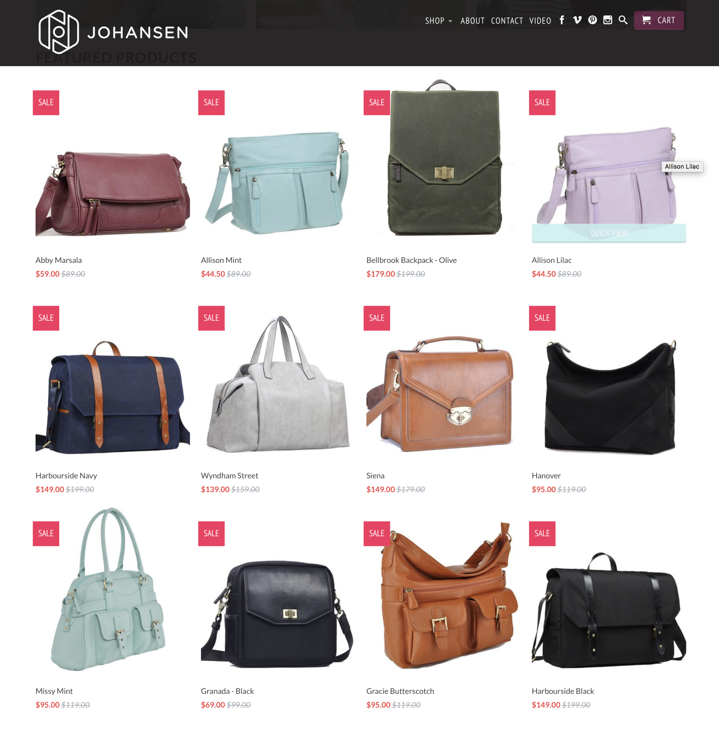 Every camera bag on sale @ jototes.com! - I shoot with the Hanover bag!