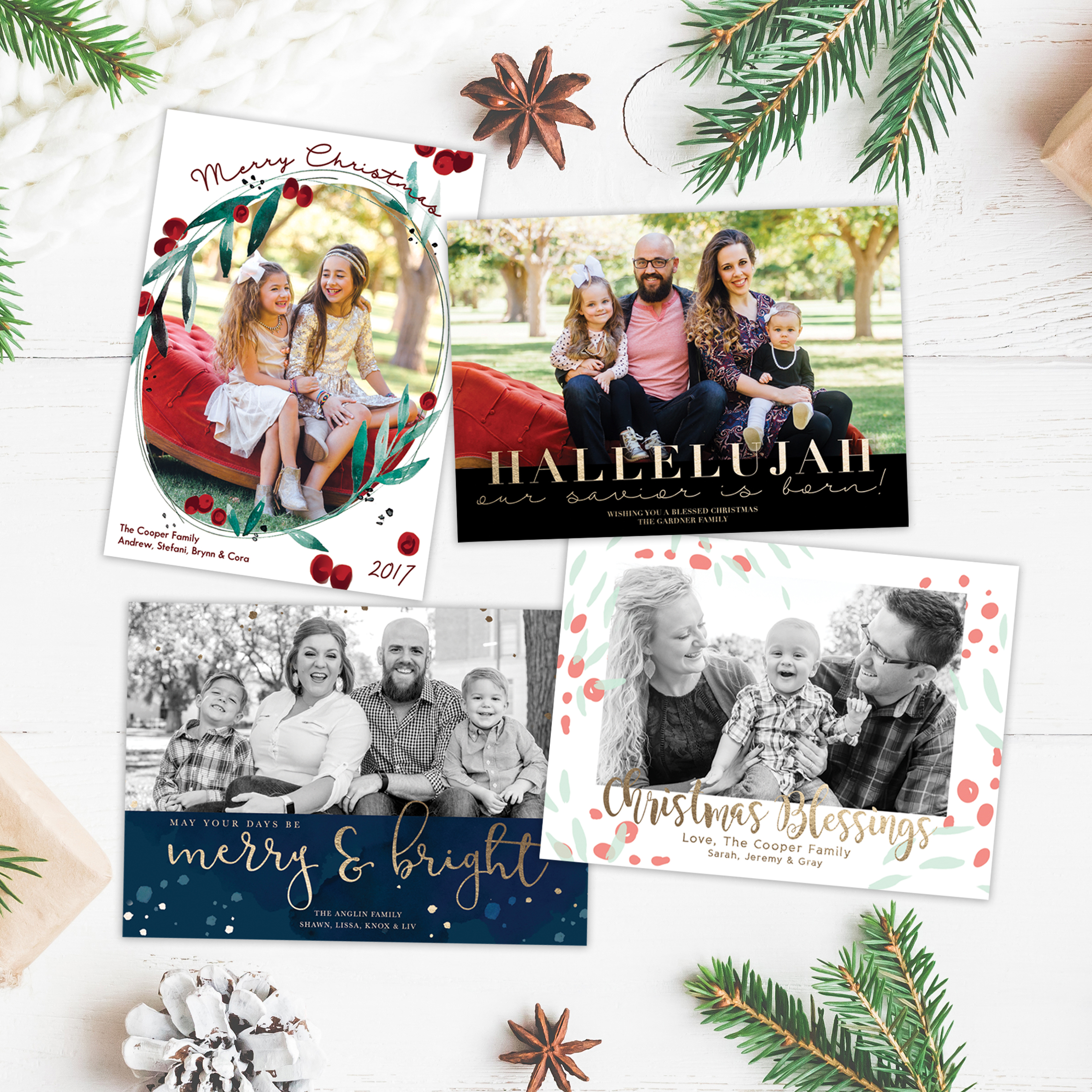 Christmas Card Design Templates- just $10! - I designed these to make life a little easier- print anywhere!