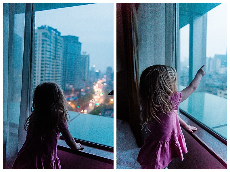 Liv was enamored with the city lights at night.