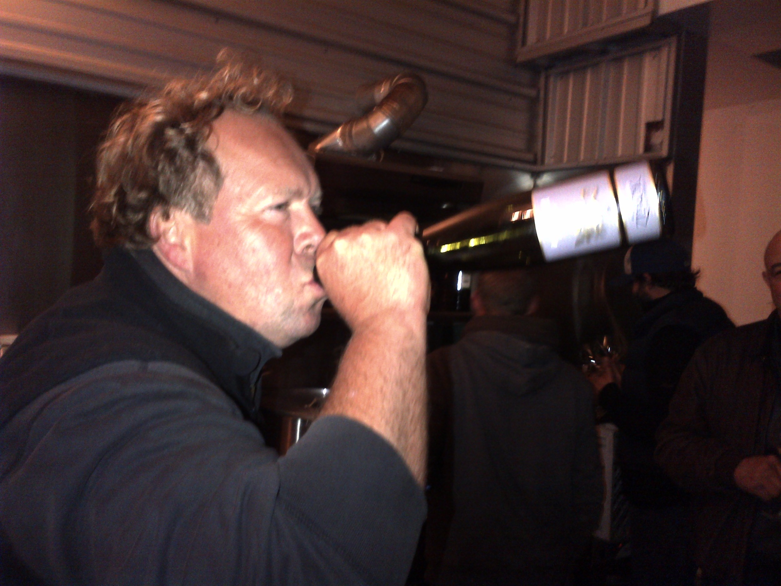 The last photo taken on my phone, sometime late at night. Norm and some Grand Cru Gewurztraminer.