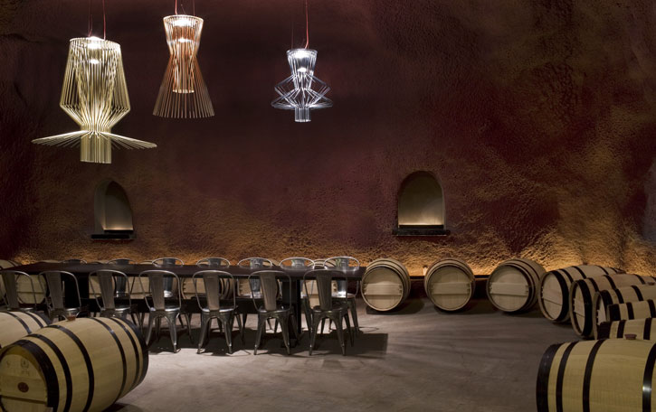Cellar tasting room at Merus Estate.
