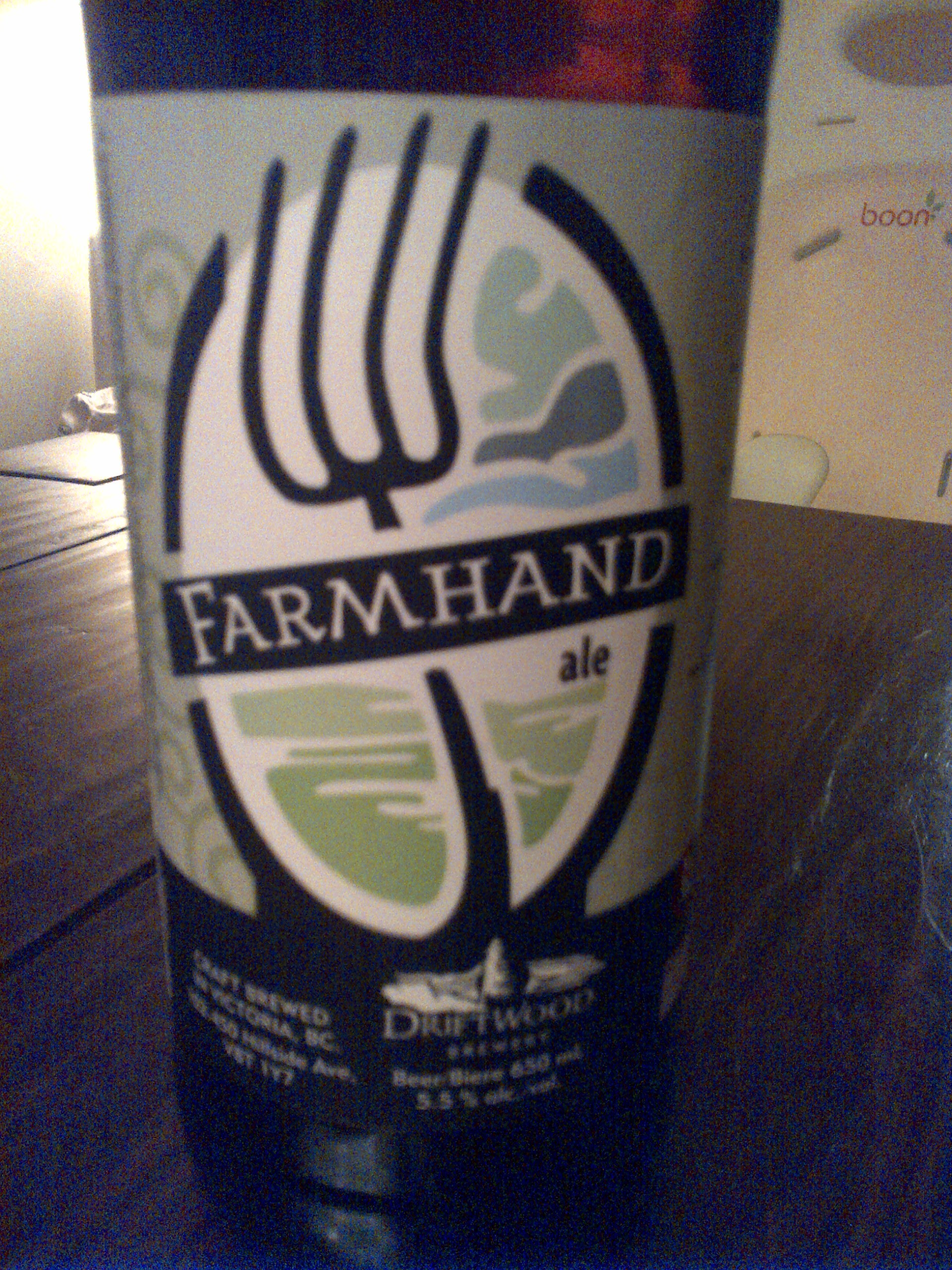 Driftwood Brewery's Farmhand Ale for a farmhand