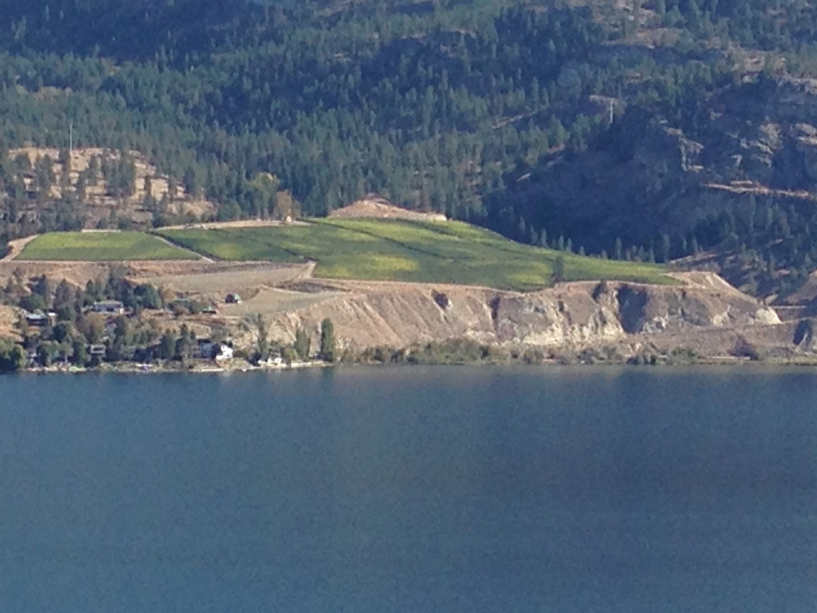 Painted Rock's Estate Vineyard from across Skaha Lake.