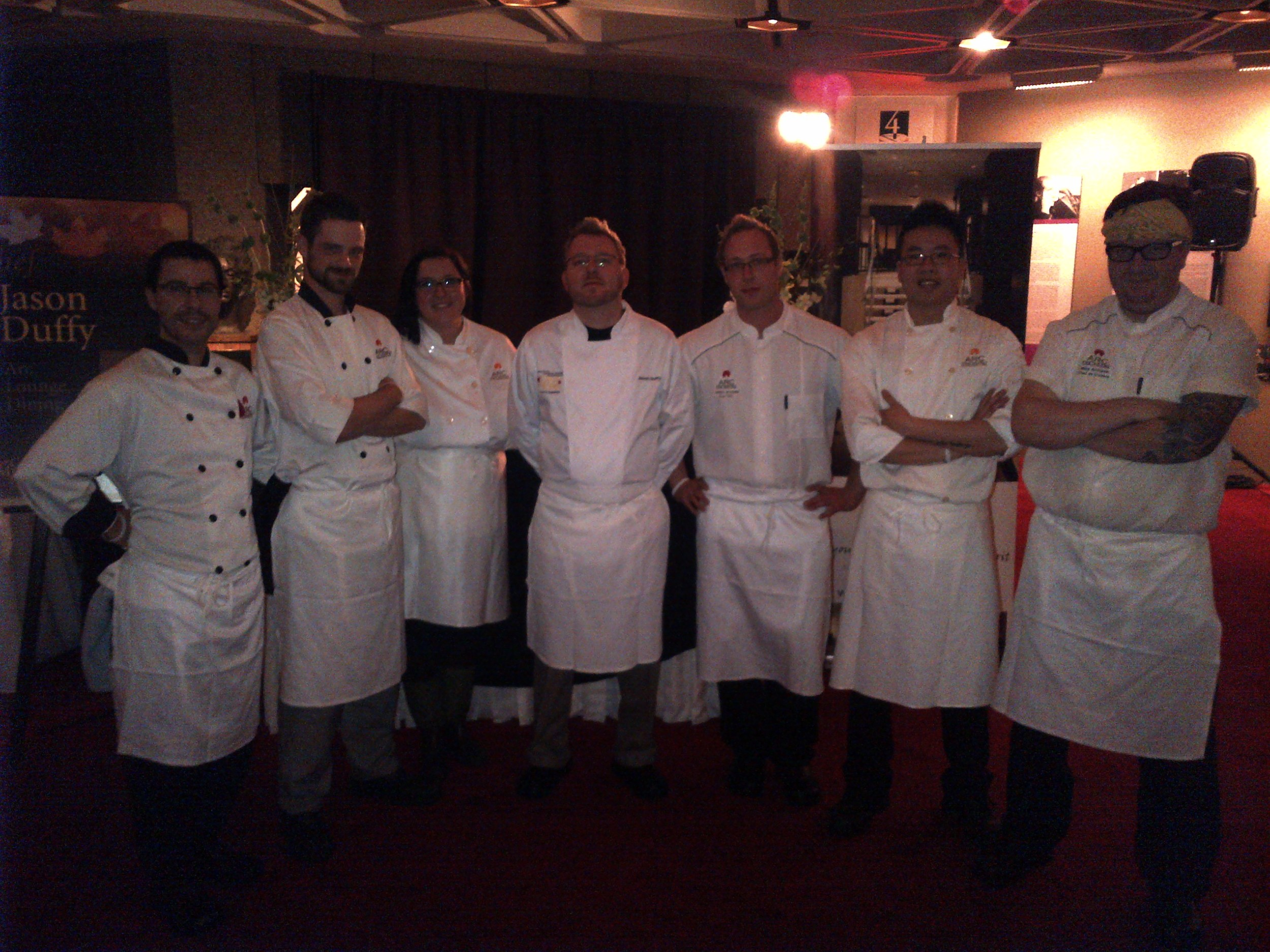 Jason Duffy's culinary team from ARC the Hotel