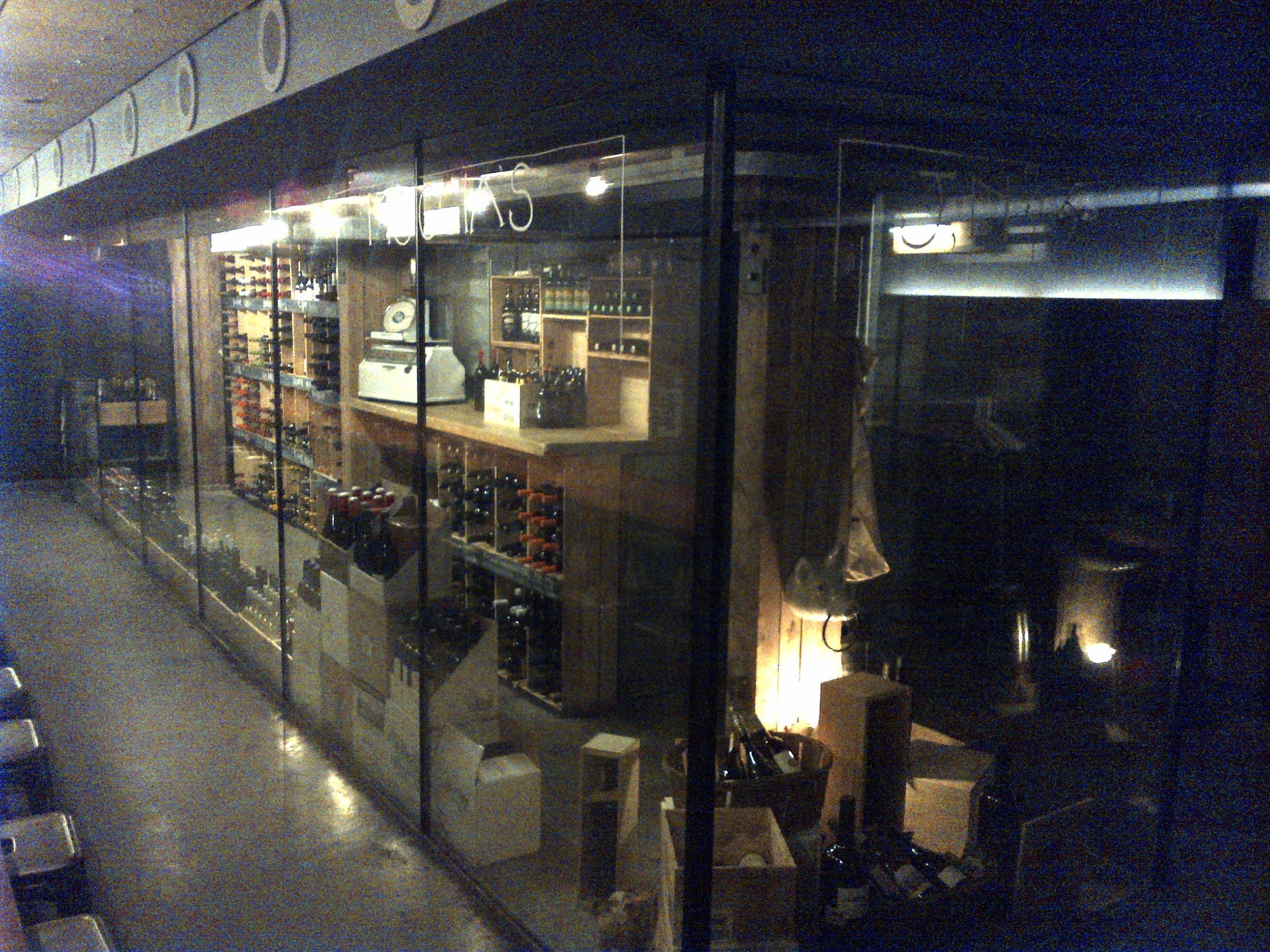 ...The adjacent wine cellar at Salt