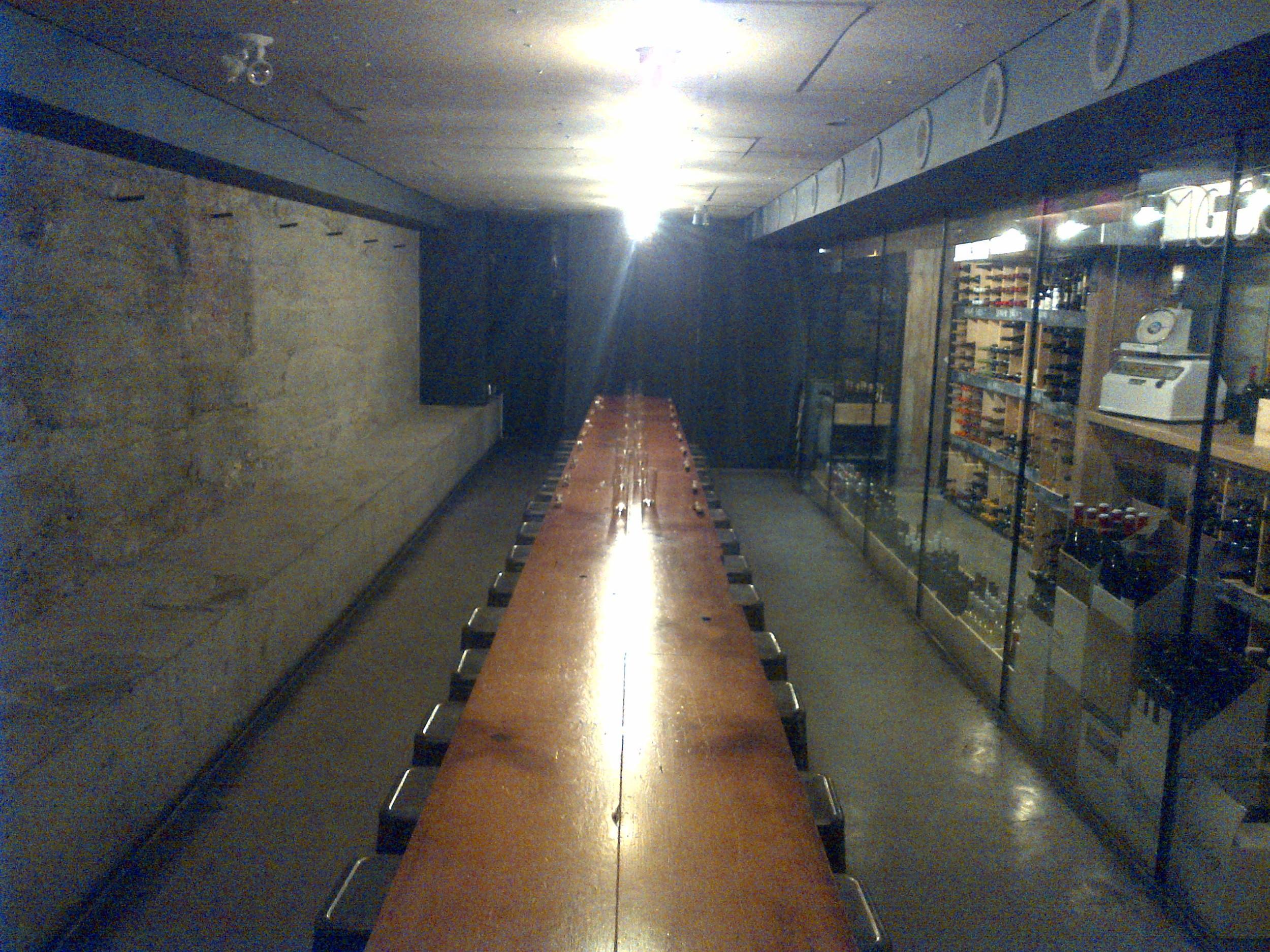 Downstairs dining room at Salt Tasting Room...