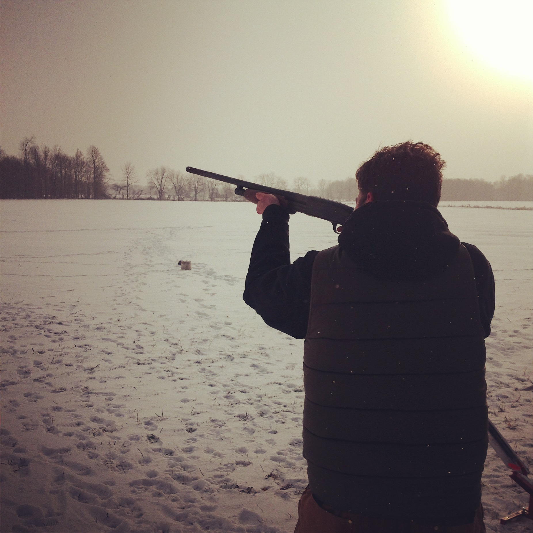 Trapshooting, the other outdoor activity besides -20c 10k runs.