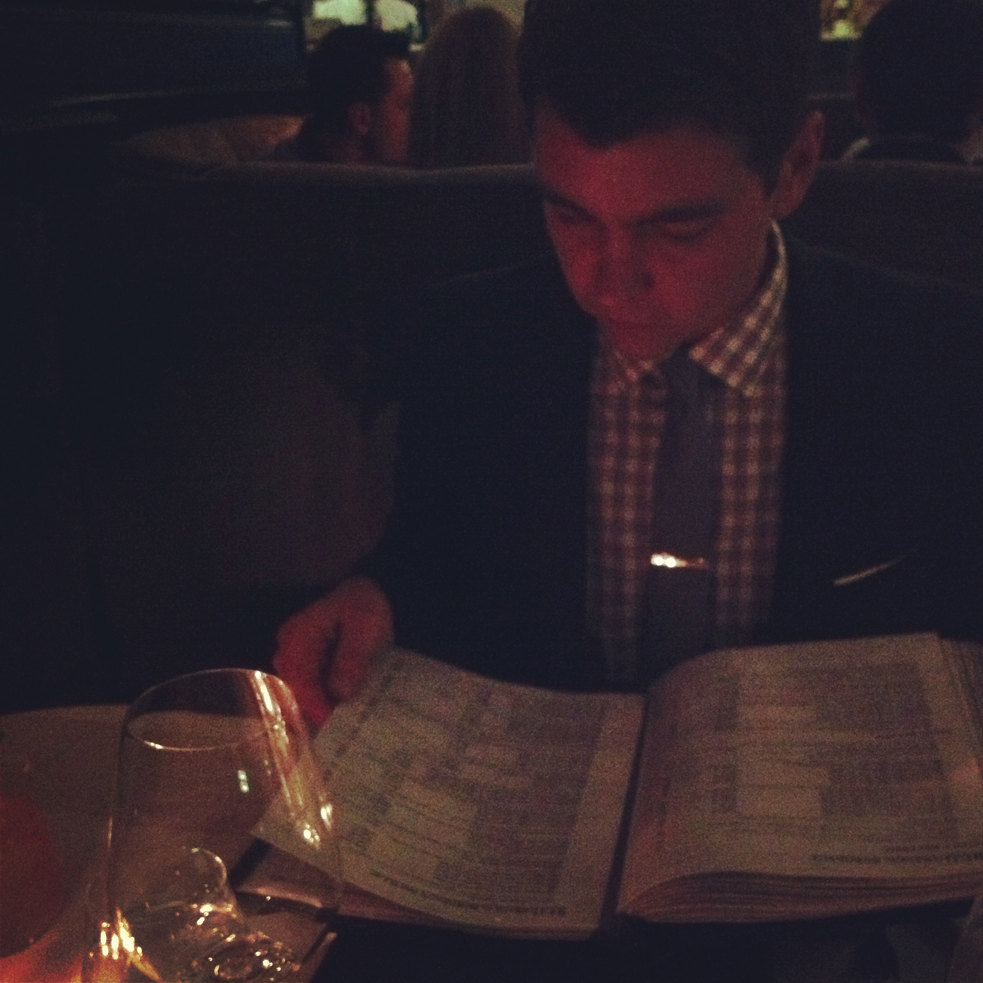 Getting deep into the textbook wine list at Harbour 60 in Toronto. Bad place to take me on a date...