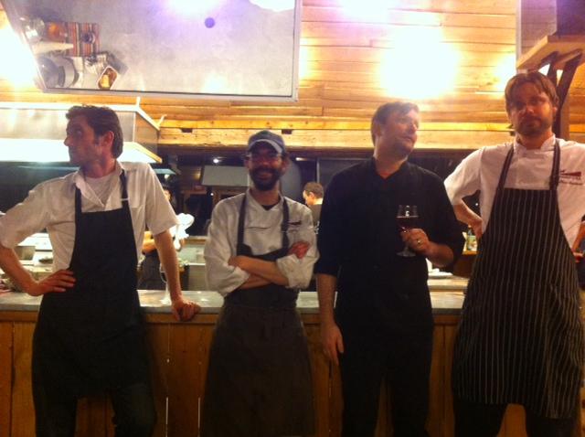 Chefs: Jamie Stunt (OZ Cafe); Mark Currier (Hintonburg Public House); Jon Svazas (Fauna); Matt Shepard (Mariposa Farm). Credit: Katie Worobeck