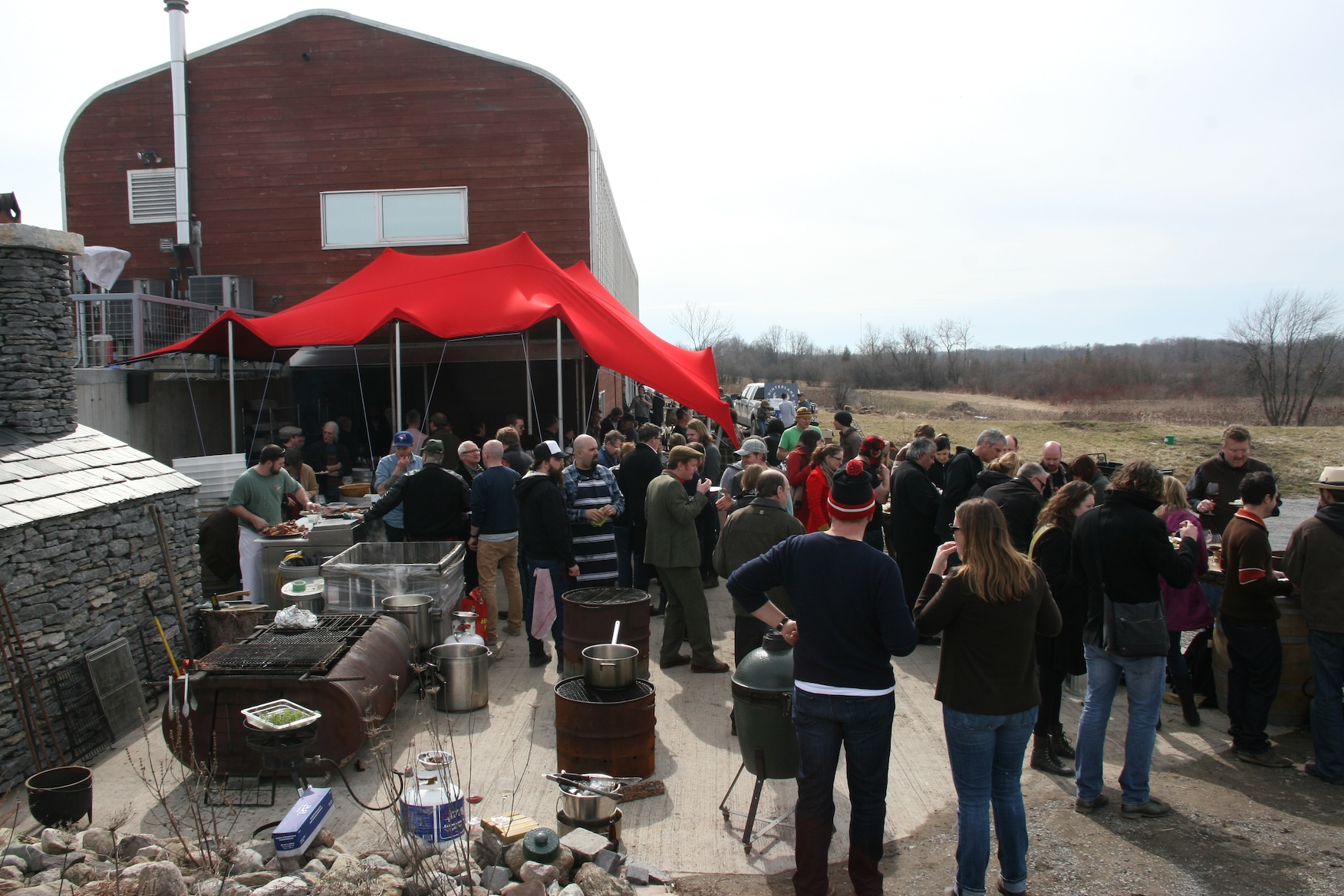 The Terroir Symposium crowd at Norman Hardie Winery
