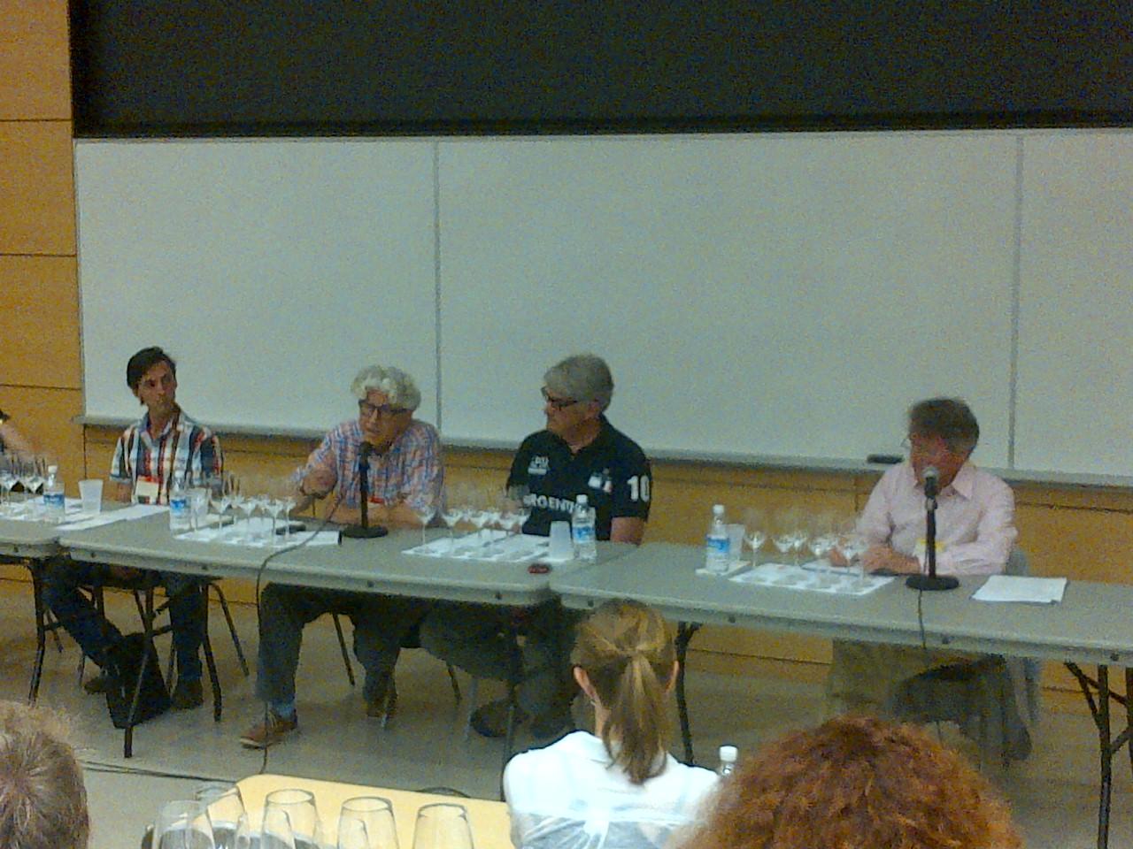 Pannel: Marimar Torres, Francois Morrisette, Jacques Lardiere, Thomas Bachelder and moderator Steven Spurrier.