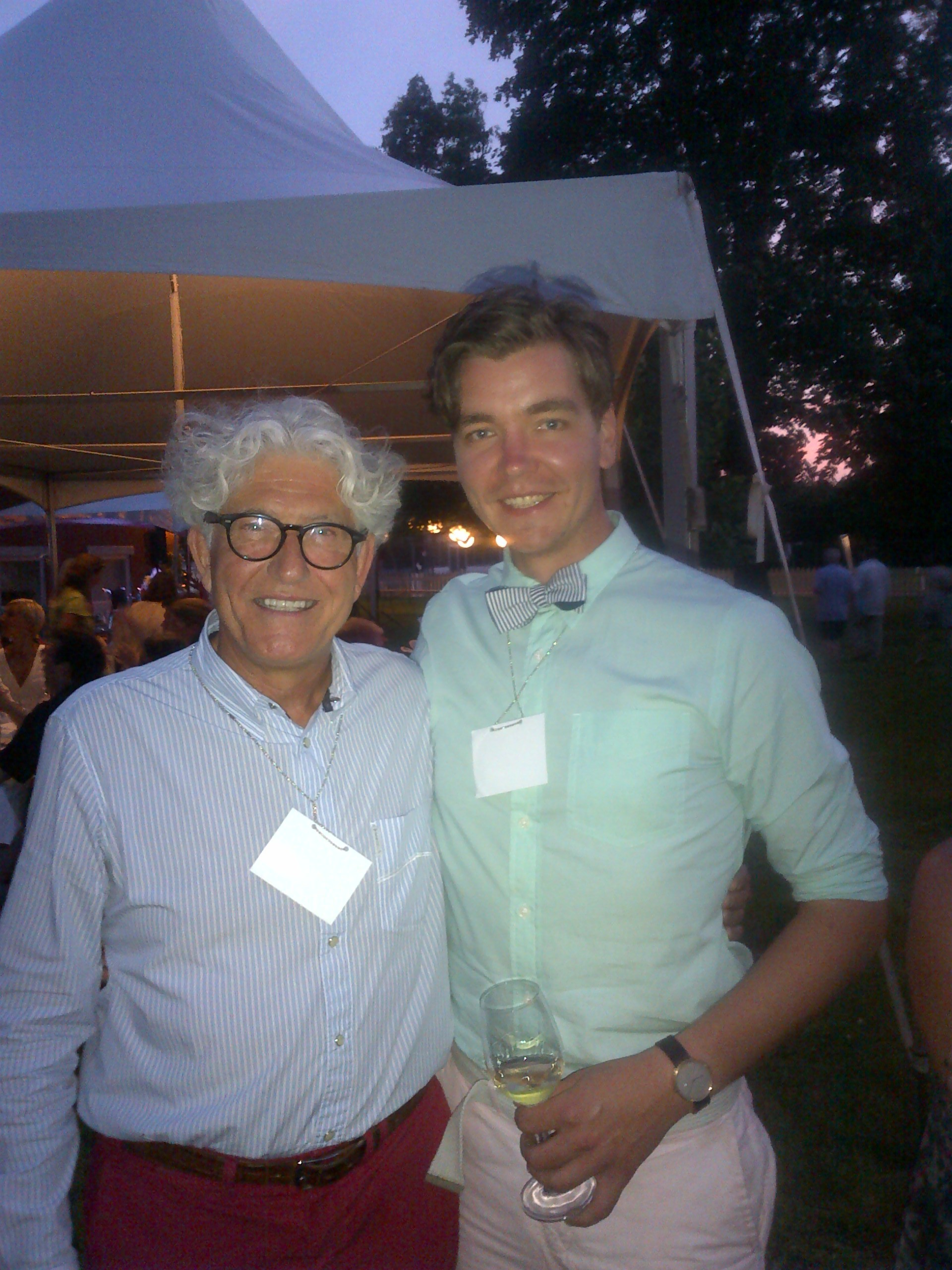 Jacques Lardiere and I at i4c gala.
