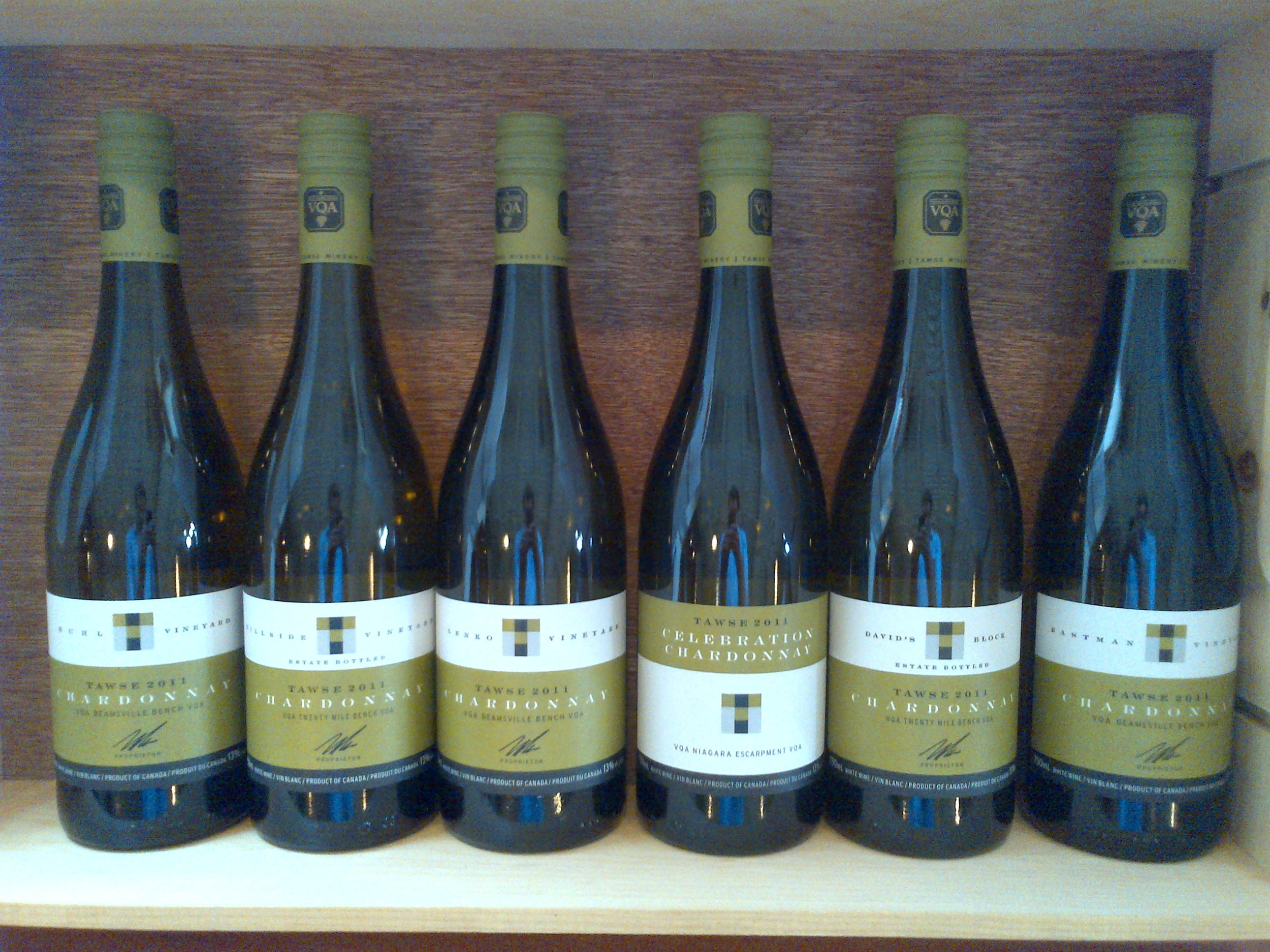 Limited addition Chardonnays, in celebration of i4c at Tawse tasting room.