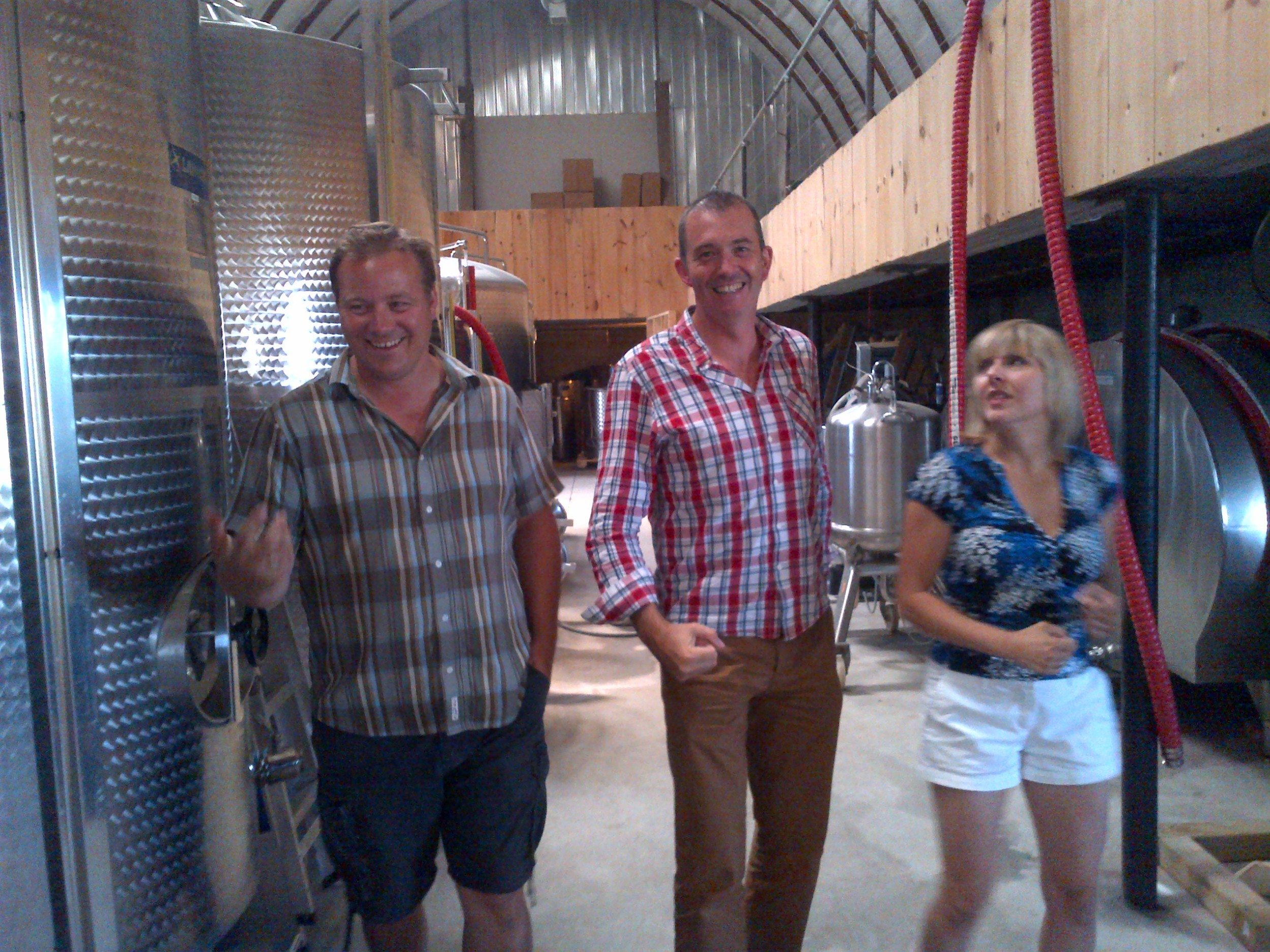 One of the international writers attending was Jamie Goode from the UK. Such an affable bloke that we took a few days to show him around Prince Edward County before the i4c started. Pictured here with Jonas and Vicki at Hinterland Wine Co after a sparkling tasting.
