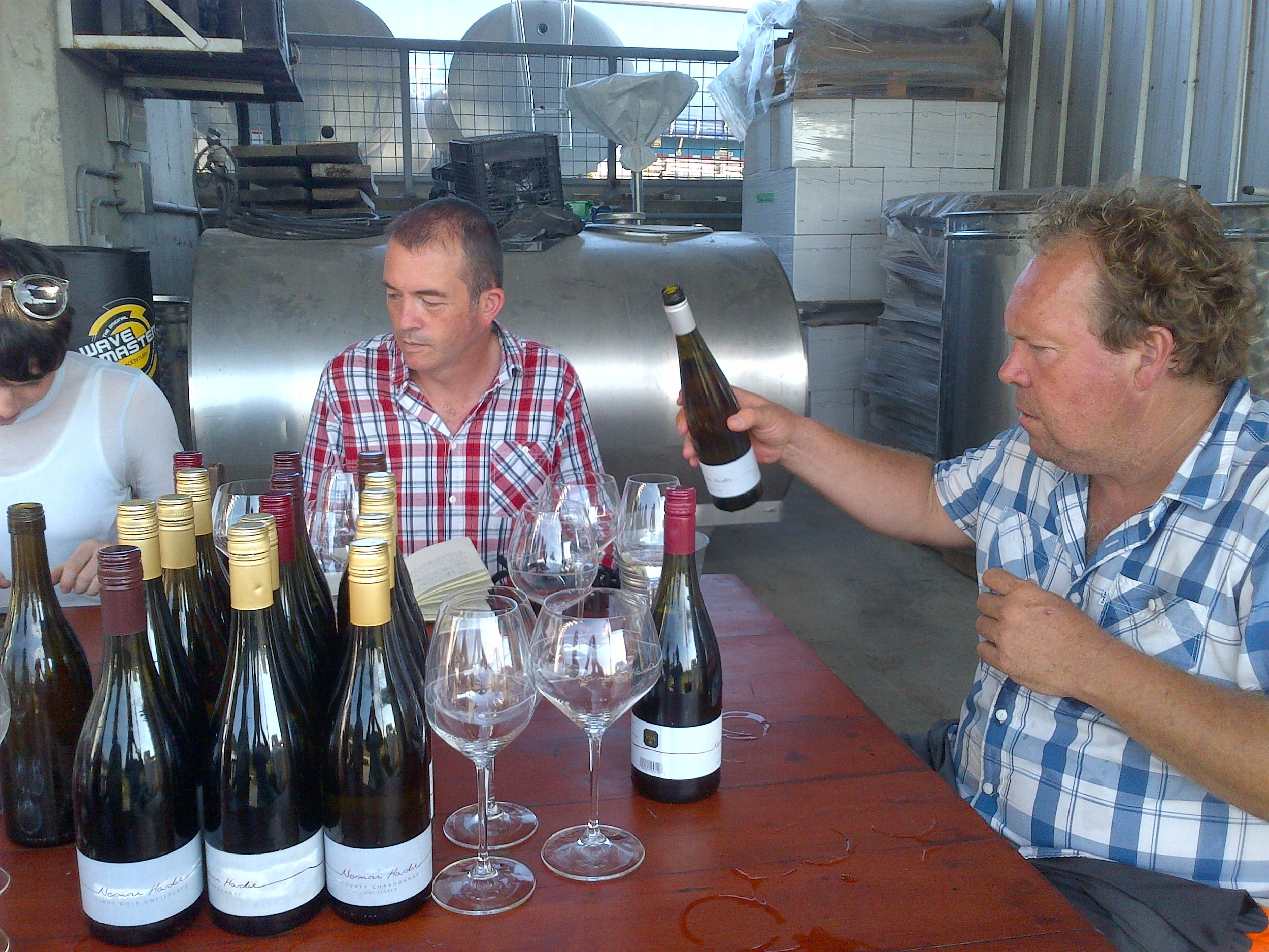 We broke out one of the biggest vertical's of Norm Hardie's wine to date with Chards and Pinots back to 2006.
