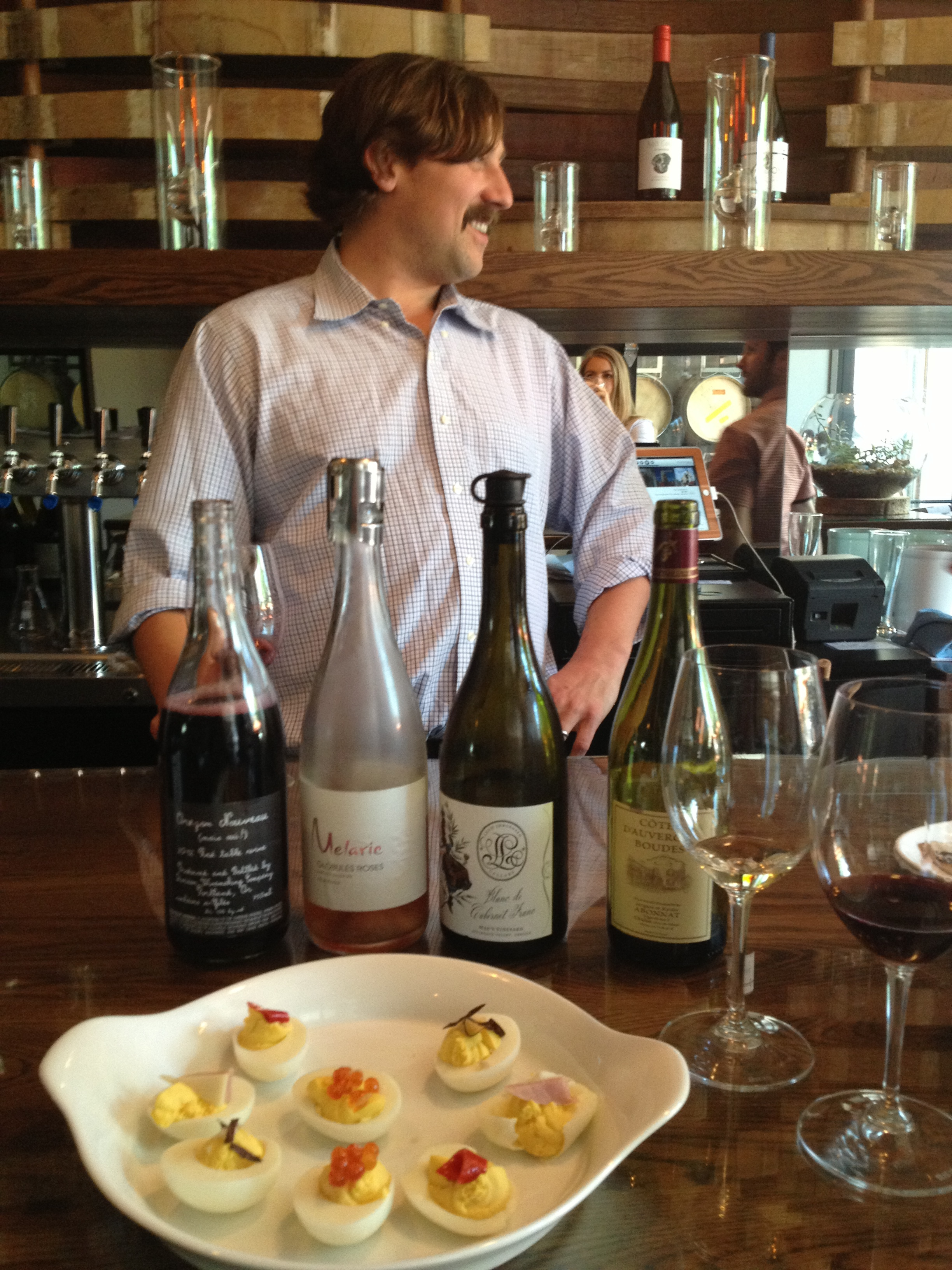 Fun impromptu tasting with Tom, owner of the South East Wine Collective and winemaker of Division Wine Making Company.