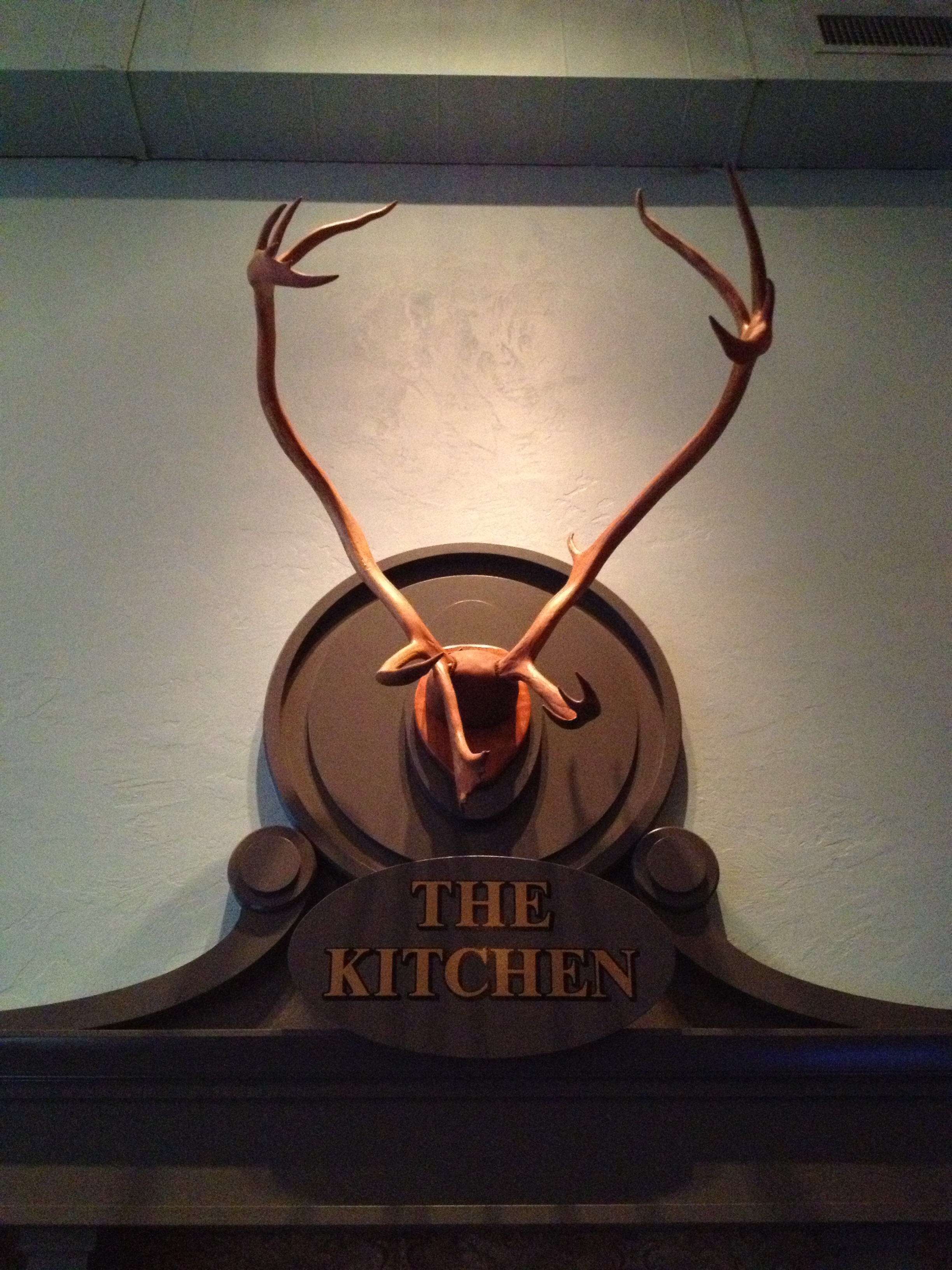 Kitchen ornamentation at Little Bird Bistro, the 2nd location of Le Pigeon.