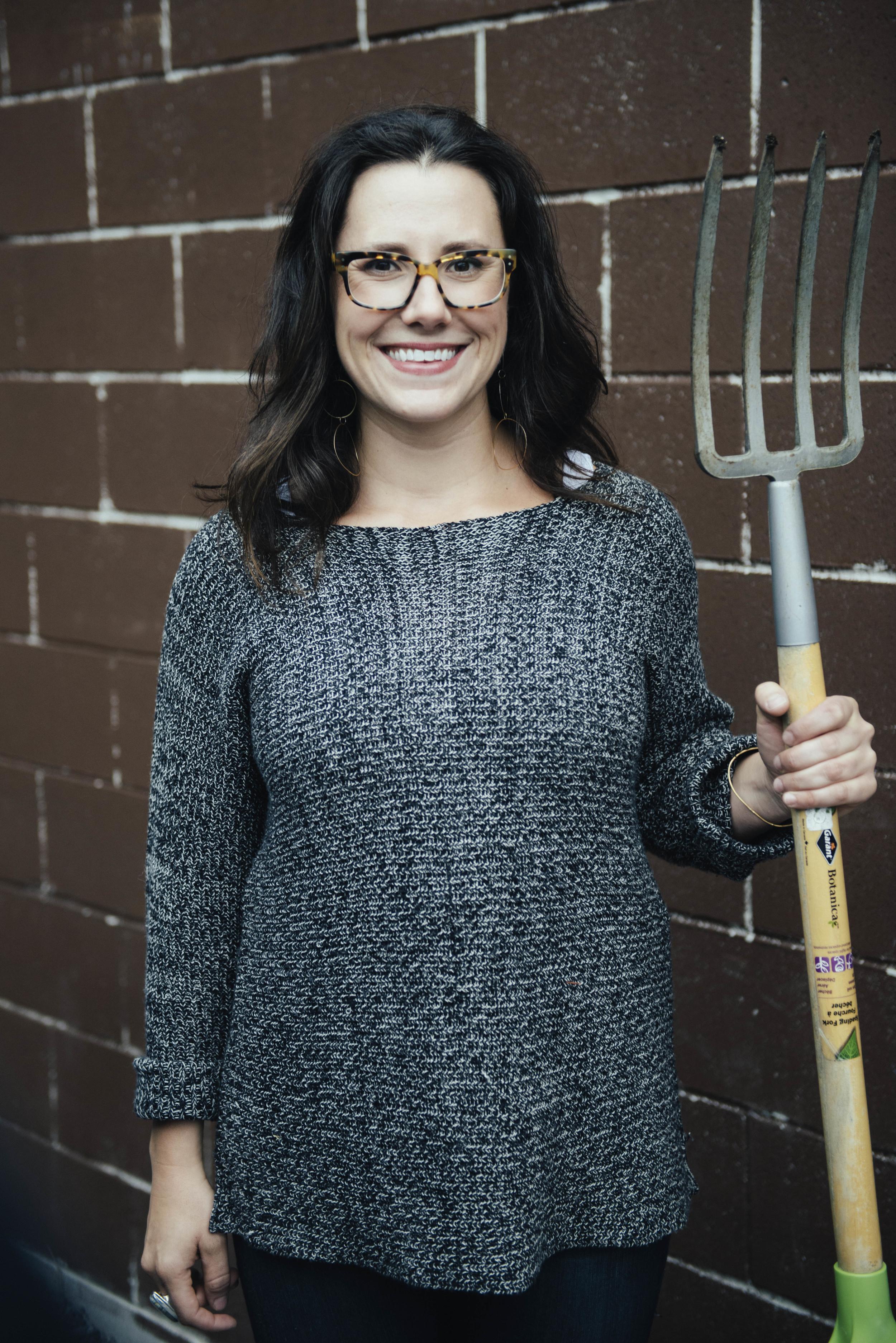 Katie Worobeck, organizer, gardener of the Whalesbone garden.