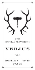 Capital Provisions Verjus labels, designed by Ryan Mesheau.
