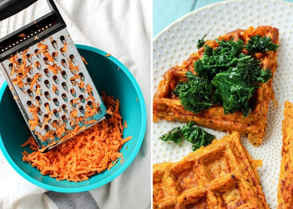 Photo from  https://www.fitmittenkitchen.com/sweet-potato-waffle-breakfast-sandwich/