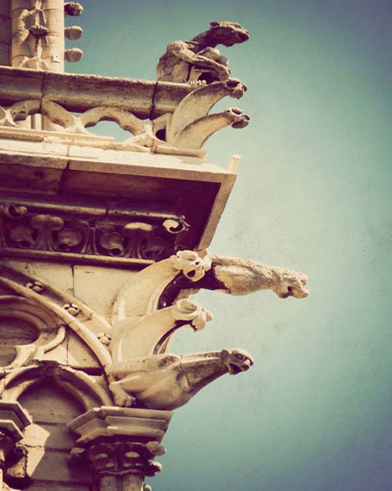 "Gargoyles ""guarding"" the exterior"