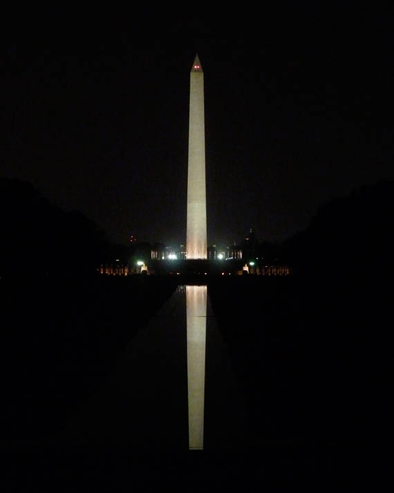 Washington Monument and its reflecting pool