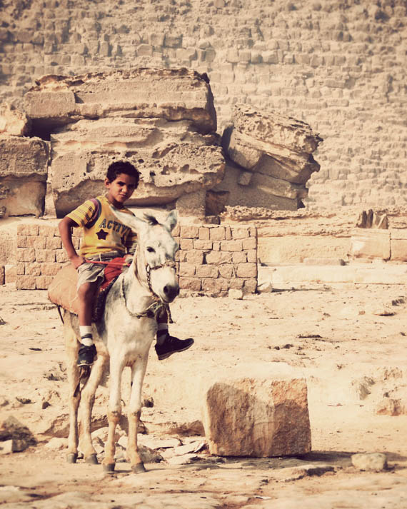 My friend (and his trusty donkey)