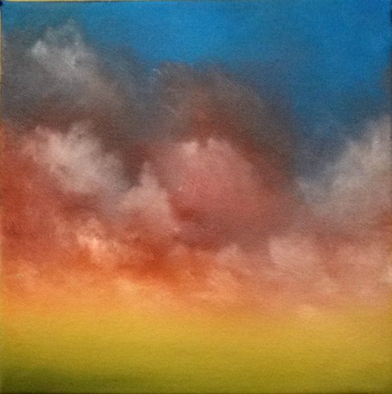 """Comfortable Thoughts"" cloud oil painting by F. Patterson Studio in Illinois"