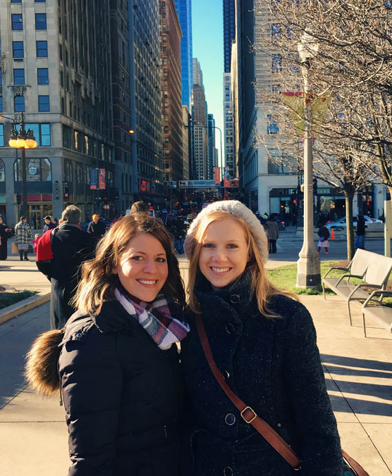 My fab cousin and I (right) exploring the city
