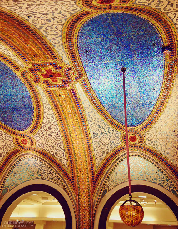 """A """"hidden"""" mosaic ceiling inside Macy's on State (Marshall Field's)"""