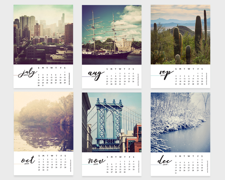 2017 desk calendar